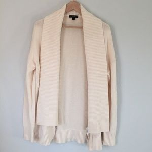 J. Crew cream woven shawl/cardigan c7799 size m
